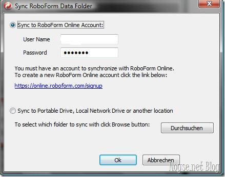 Roboform Account Data